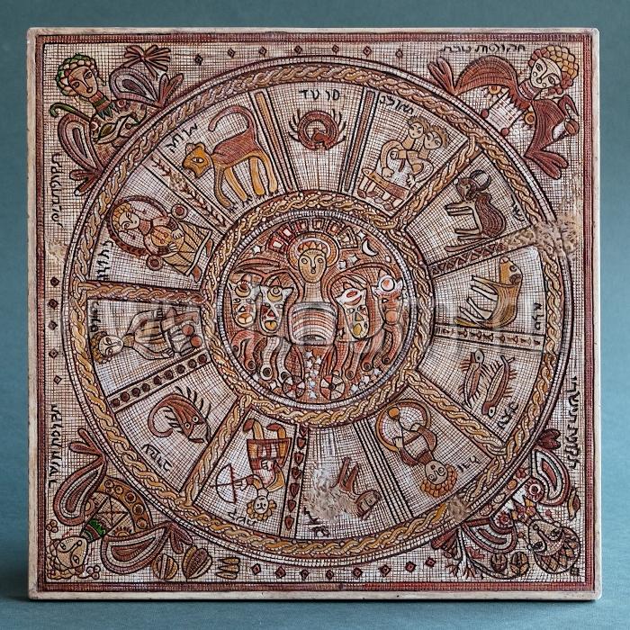 Декоративный гипсовый скульптурный Зодиак из Северного Израиля - Коллекция: Античная скульптура (скульптура Древнего Рима)