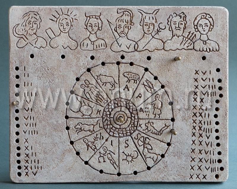 Декоративный гипсовый скульптурный рельеф Римский календарь - Коллекция: Античная скульптура (скульптура Древнего Рима)