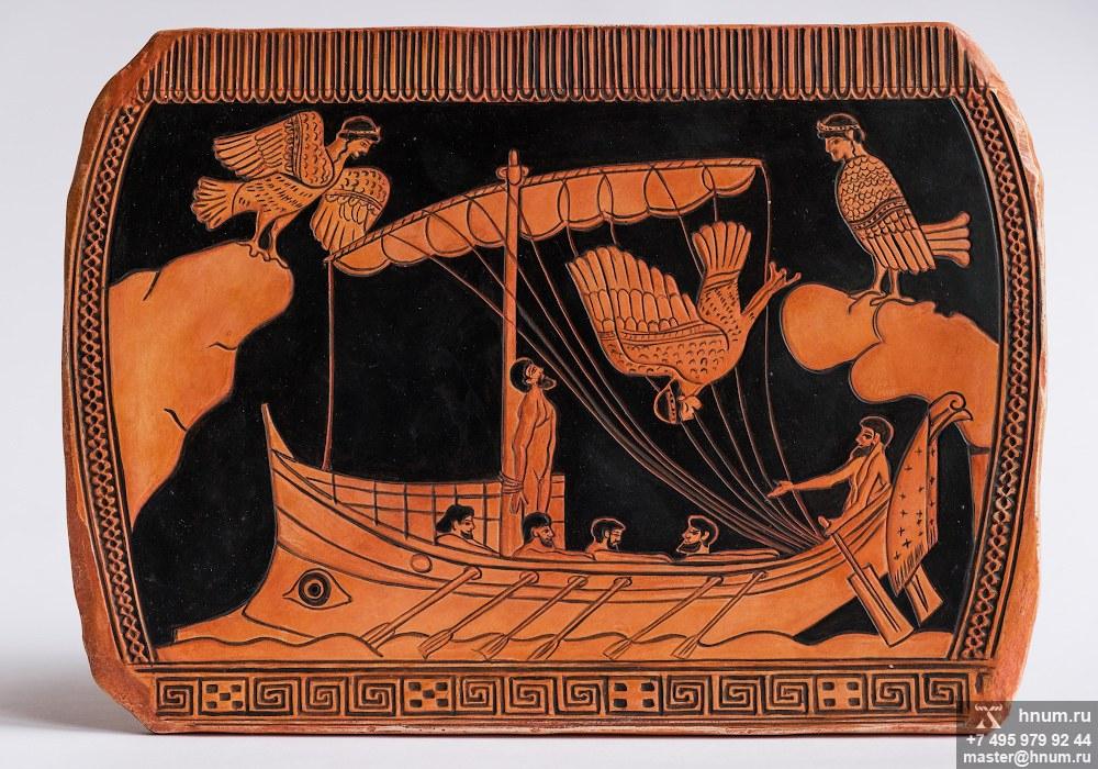 Декоративная гипсовая скульптура Одиссей и сирены - Коллекция: Античная скульптура (скульптура Древней Греции)