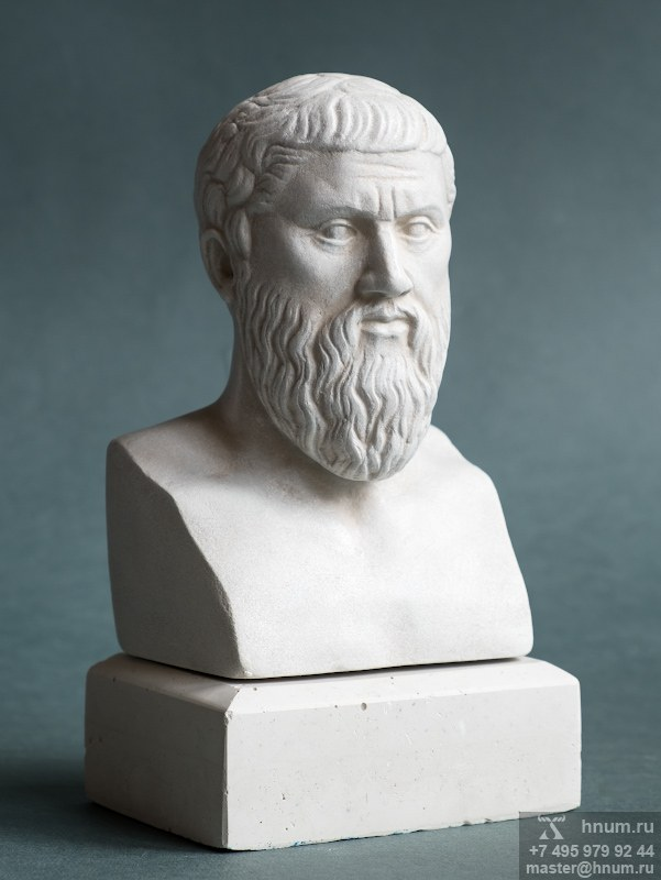 ПЛАТОН бюст (декоративная гипсовая скульптура, коллекция: Античная скульптура / Скульптура Древней Греции)