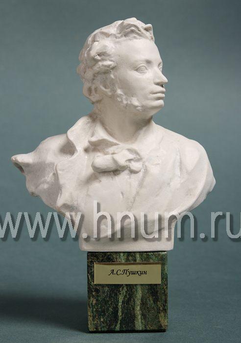 Декоративная скульптура Пушкин А.С. скульптурный бюст - Коллекция: Выдающиеся деятели искусства, литературы, науки, политики и общественные деятели