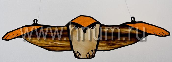 Коллекция подарков - Витражная подвеска Сова летящая (малая), тиффани - Купить в интернет-магазине БМ Хнум