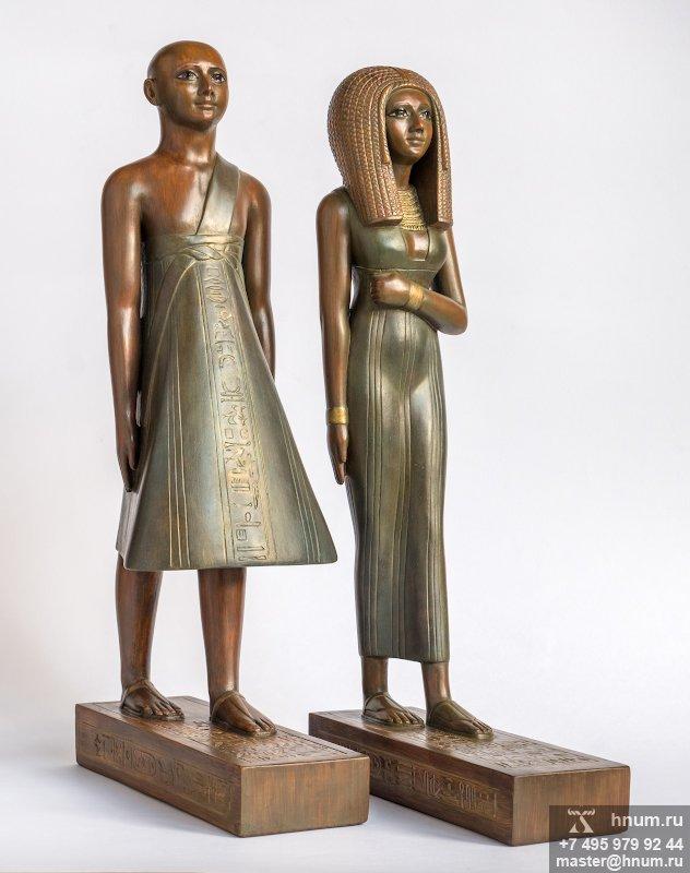 Интерьерная скульптура Жрица Раннаи и жрец Аменхотепа храма Амона статуэтки